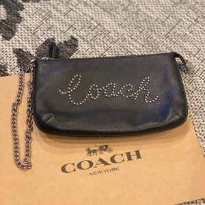 COACH Large Wristlet Studded Embellishment Logo